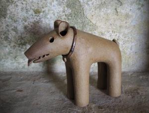 chien Haniwa - reproduction de l'atelier modeste