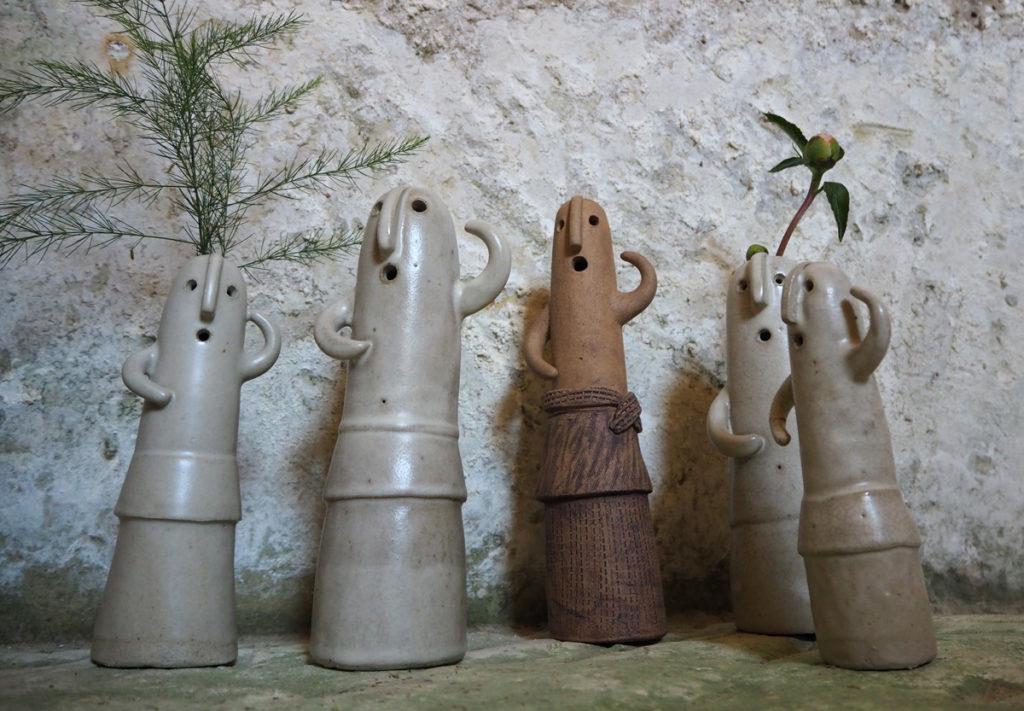 figurines Haniwa - façonnées par l'atelier modeste