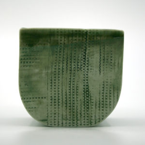 pot porcelaine à décor d'empreinte