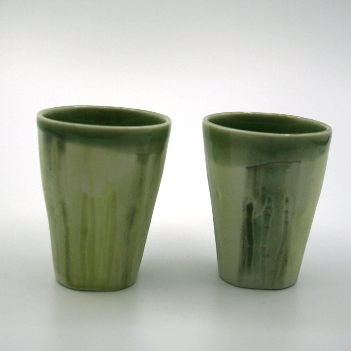 tasses porcelaine colorées